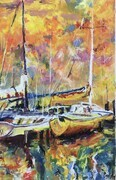 Boats in a Harbour (Copy of an original by Barry Thomas)